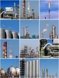 Κολάζ των βιομηχανικών εικόνων Στοκ εικόνα με δικαίωμα ελεύθερης χρήσης