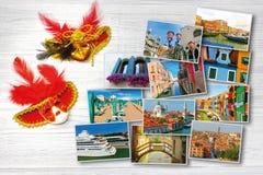 Κολάζ των εικόνων από τη Βενετία Στοκ Εικόνες