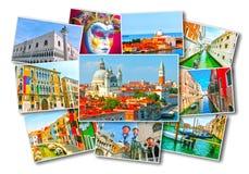 Κολάζ των εικόνων από τη Βενετία Στοκ φωτογραφίες με δικαίωμα ελεύθερης χρήσης