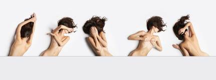 Κολάζ των θηλυκών nude οργανισμών Στοκ φωτογραφία με δικαίωμα ελεύθερης χρήσης