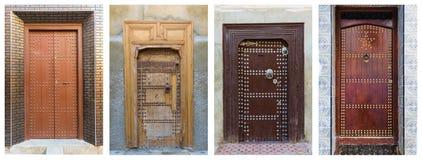 Κολάζ των καφετιών πορτών, Μαρόκο Στοκ φωτογραφία με δικαίωμα ελεύθερης χρήσης