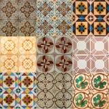 Κολάζ των κεραμικών κεραμιδιών από την Πορτογαλία Στοκ Εικόνες