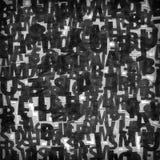 Κολάζ των μαύρων αποκομμάτων περιοδικών στοκ εικόνα
