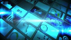 Κολάζ των μπλε οθονών που παρουσιάζουν συνδετήρες διανυσματική απεικόνιση
