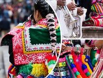 Κολάζ των παραδοσιακών εικόνων πολιτισμού του Περού - υπόβαθρο ταξιδιού ( Στοκ φωτογραφίες με δικαίωμα ελεύθερης χρήσης