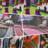 Κολάζ των παραδοσιακών εικόνων πολιτισμού του Περού - υπόβαθρο ταξιδιού Στοκ Εικόνες