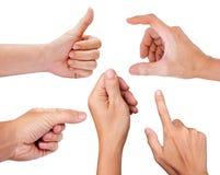Κολάζ των χεριών ατόμων που απομονώνονται στο λευκό Στοκ φωτογραφίες με δικαίωμα ελεύθερης χρήσης