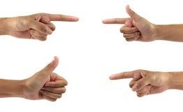 Κολάζ των χεριών γυναικών στα άσπρα υπόβαθρα Στοκ Εικόνα