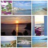 Κολάζ φωτογραφιών του νησιού Ελλάδα Άνδρου στοκ εικόνα