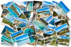 Κολάζ φωτογραφιών του τοπίου της Κορσικής στη Γαλλία Στοκ φωτογραφία με δικαίωμα ελεύθερης χρήσης