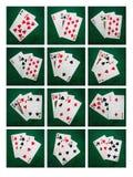 Κολάζ Blackjack είκοσι ένα Στοκ Εικόνες