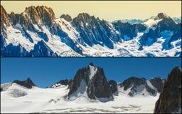 Κολάζ Chamonix Mont Blanc, Γαλλία Στοκ Φωτογραφίες