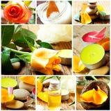 Κολάζ SPA και Aromatherapy Στοκ Φωτογραφίες