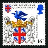 Κολλέγιο του γραμματοσήμου Quincentenary όπλων Στοκ εικόνες με δικαίωμα ελεύθερης χρήσης