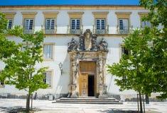 Κολλέγιο του Pedro Σάο στο πανεπιστήμιο της Κοΐμπρα Πορτογαλία Στοκ Φωτογραφία