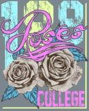 Κολλέγιο τριαντάφυλλων διανυσματική απεικόνιση