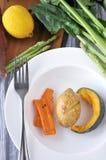 Κολοκύθα πατατών και πιάτο καρότων Στοκ Φωτογραφία