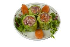 Κολοκύθα πρώτης ύλης με το χοιρινό κρέας Στοκ εικόνες με δικαίωμα ελεύθερης χρήσης