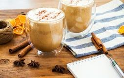 Κολοκύθα latte με το καρύκευμα Στοκ Εικόνα
