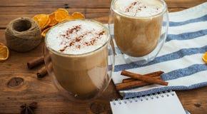 Κολοκύθα latte με το καρύκευμα Στοκ εικόνα με δικαίωμα ελεύθερης χρήσης