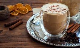 Κολοκύθα latte με το καρύκευμα Στοκ φωτογραφίες με δικαίωμα ελεύθερης χρήσης