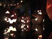 Κολοκύθες & φαντάσματα Στοκ Εικόνα