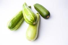 Κολοκύθια, πράσινη θερινή κολοκύνθη στο λευκό Στοκ φωτογραφία με δικαίωμα ελεύθερης χρήσης