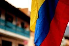 κολομβιανή σημαία Στοκ Φωτογραφία