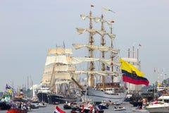 Κολομβιανό ARC Gloria tallship ναυτικών Στοκ φωτογραφία με δικαίωμα ελεύθερης χρήσης