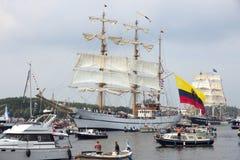 Κολομβιανό ARC Gloria tallship ναυτικών Στοκ εικόνα με δικαίωμα ελεύθερης χρήσης