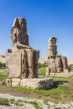 Κολοσσοί Memnon, κοιλάδα των βασιλιάδων, Luxor, Αίγυπτος Στοκ εικόνες με δικαίωμα ελεύθερης χρήσης