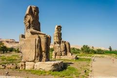 Κολοσσοί Memnon, κοιλάδα των βασιλιάδων, Luxor, Αίγυπτος Στοκ φωτογραφία με δικαίωμα ελεύθερης χρήσης