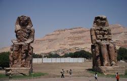 Κολοσσοί Memnon Luxor Αίγυπτος Στοκ εικόνες με δικαίωμα ελεύθερης χρήσης