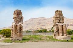 Κολοσσοί Memnon luxor της Αιγύπτου Στοκ φωτογραφία με δικαίωμα ελεύθερης χρήσης