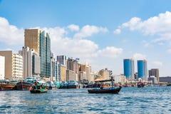 Κολπίσκος του Ντουμπάι, Deira, Ηνωμένα Αραβικά Εμιράτα στοκ εικόνα