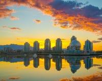 κολπίσκος ψεύτικο Βανκ&o Ξημερώματα βρετανικός Καναδάς Κολ&omic Στοκ Φωτογραφίες
