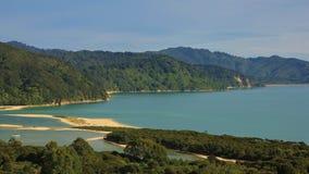 Κολπίσκος Awaroa, κόλπος στο εθνικό πάρκο του Abel Tasman Στοκ Εικόνες