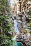 Κολπίσκος Johnston, εθνικό πάρκο Banff, Αλμπέρτα Στοκ εικόνες με δικαίωμα ελεύθερης χρήσης