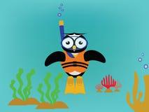 Κολυμπήστε με αναπνευτήρα κουκουβάγια Στοκ φωτογραφία με δικαίωμα ελεύθερης χρήσης