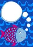 Κολυμπώντας κάρτα πρόσκλησης κόμματος ψαριών διανυσματική απεικόνιση