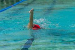 Κολυμπώντας κορίτσι Στοκ Εικόνα