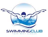 Κολυμπώντας λογότυπο Στοκ Εικόνα