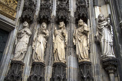 Κολωνία Ρωμαίος - καθολικός γοτθικός καθεδρικός ναός Στοκ Εικόνες