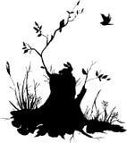 Κολόβωμα σκιαγραφιών Στοκ φωτογραφία με δικαίωμα ελεύθερης χρήσης