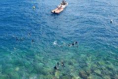 Κολύμβηση με αναπνευστήρα, Μονακό Στοκ εικόνες με δικαίωμα ελεύθερης χρήσης