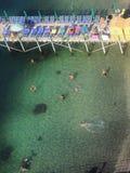 Κολύμβηση σε Σορέντο Στοκ εικόνες με δικαίωμα ελεύθερης χρήσης