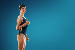 Κολύμβηση στο στούντιο Στοκ Εικόνες