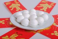 Κολλώδεις σφαίρες ρυζιού παραδοσιακού κινέζικου Στοκ Φωτογραφία