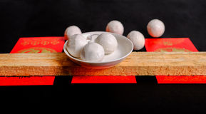 Κολλώδεις σφαίρες ρυζιού παραδοσιακού κινέζικου Στοκ Φωτογραφίες