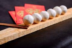 Κολλώδεις σφαίρες ρυζιού παραδοσιακού κινέζικου Στοκ Εικόνες